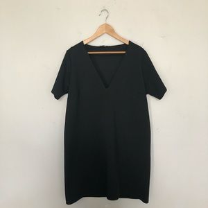 Misguided Deep V Black Shift Dress